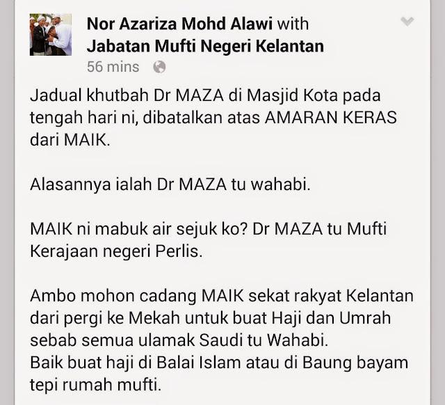 Dr Asri Dilarang Untuk Sampaikan Khutbah di Kelantan?