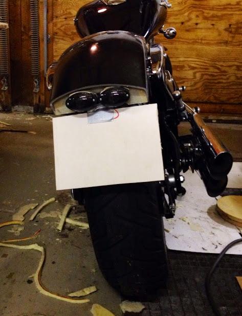 Custom fiberglass rear fender for M800 IMAGE_48