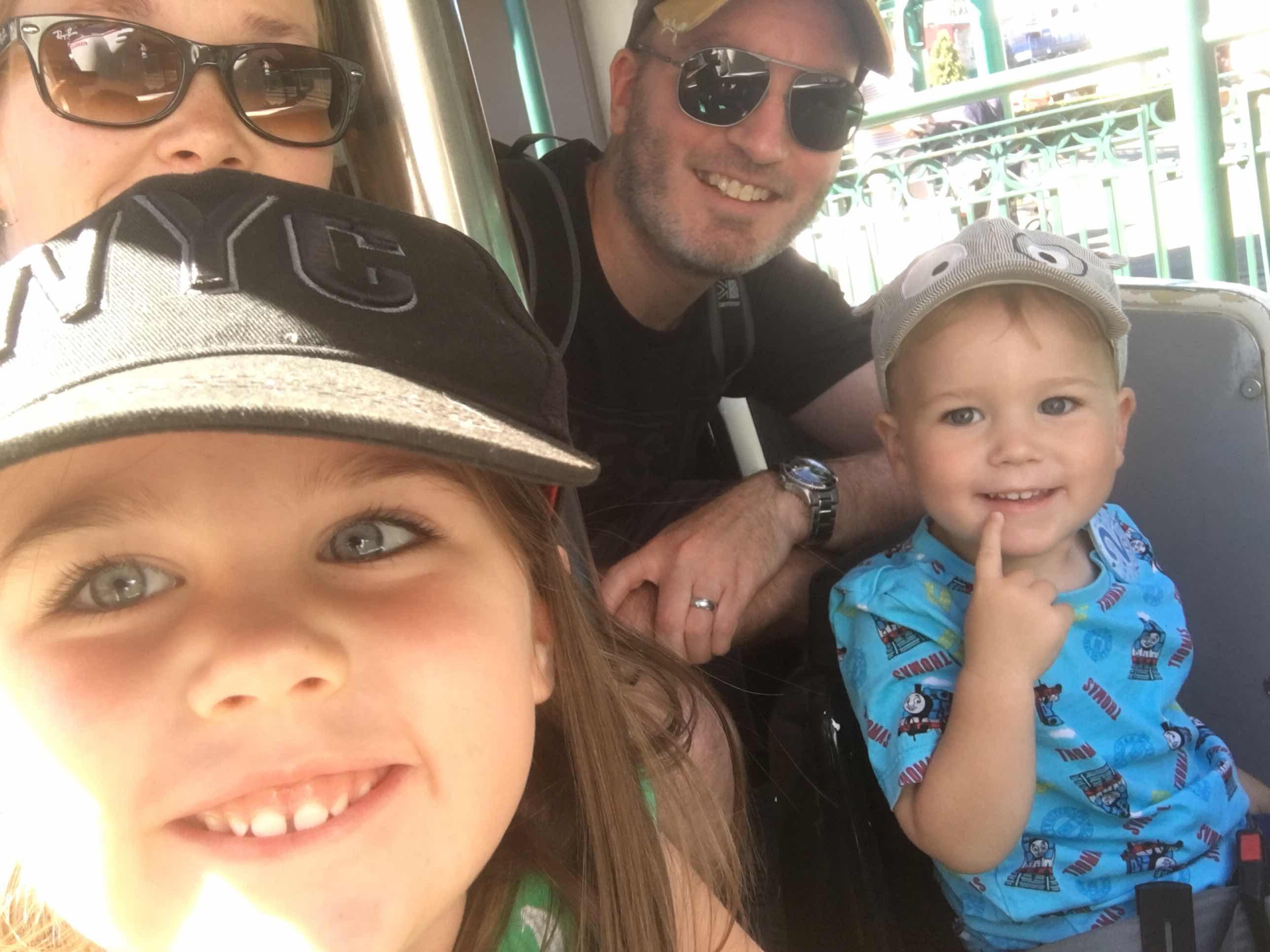 Thomas Land family selfie