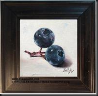 framed Blueberries 6x6