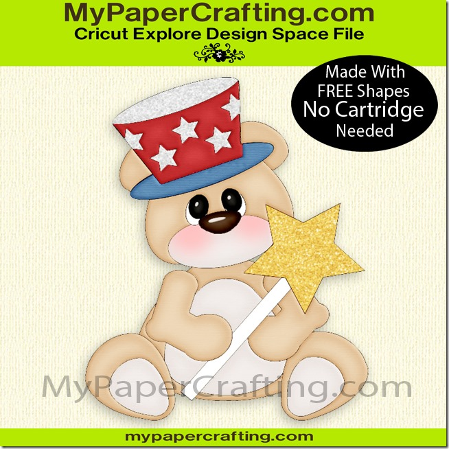bear w patriotic hat ppr cf-650
