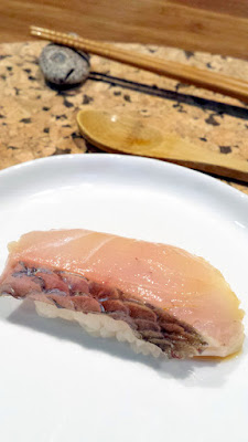 New Zealand Snapper with ponzu sushi at Nodoguro SupaHardCore May 29, 2016