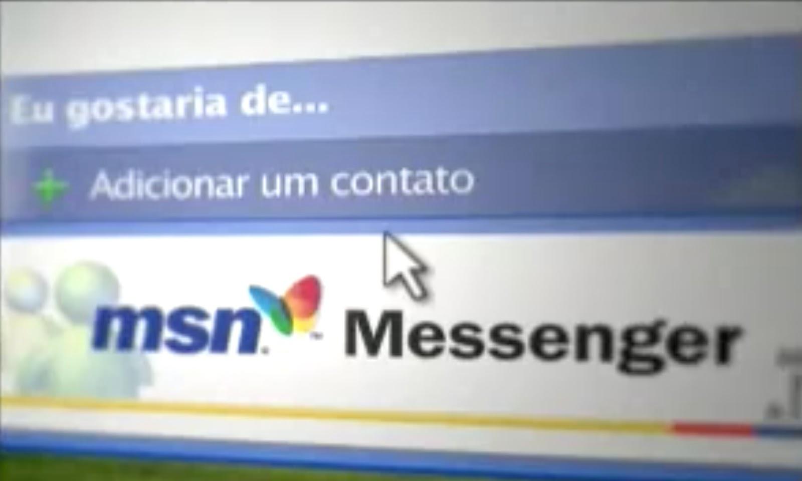 Campanha da Microsoft promovendo o MSN Messenger em 2004