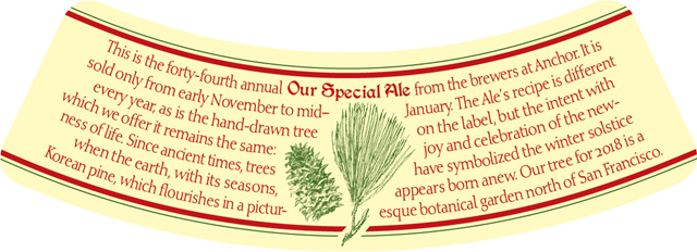 Anchor Brewing Reveals 2018 Merry Christmas Happy New Year Special Ale
