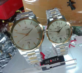 jam tangan Hegner couple silver kombi gold