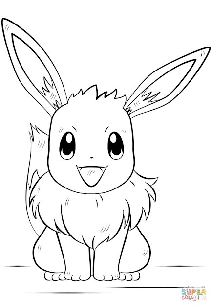Click The Eevee Pokemon Coloring Pages To View Printable Version Or Color  It Online Patible With Ipad And Android Tablets