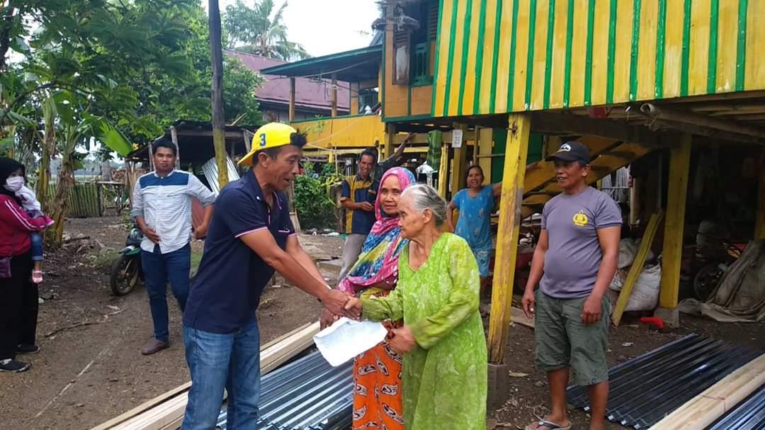 Sembilan Rumah RTM Dampak Angin Puting Beliung di Labokong Mulai Dikerja