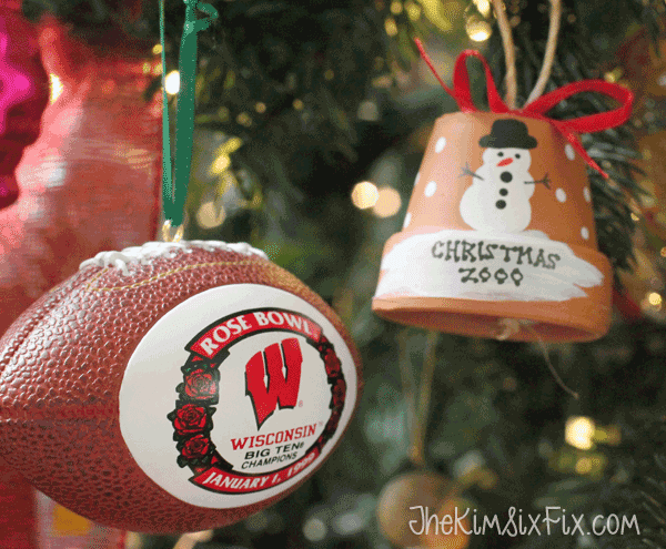 Football ornaments wisconsin