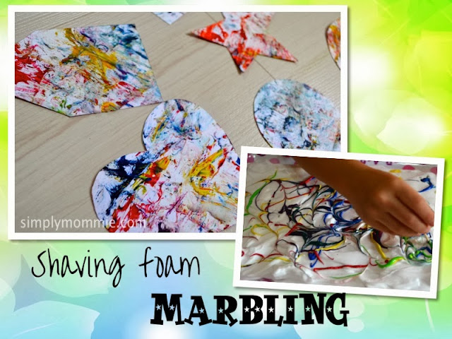 shaving foam marbling art