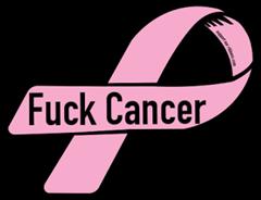 52664-custom-ribbon-magnet-sticker-Fuck Cancer