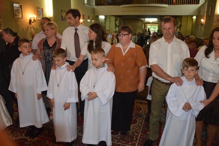 Elsőáldozás a penci Katolikus Templomban