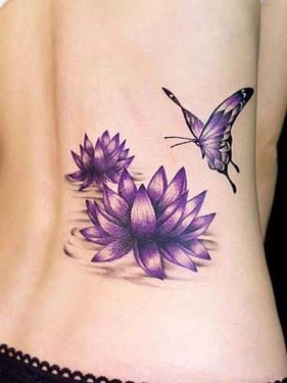 roxo_da_flor_de_ltus_da_tatuagem