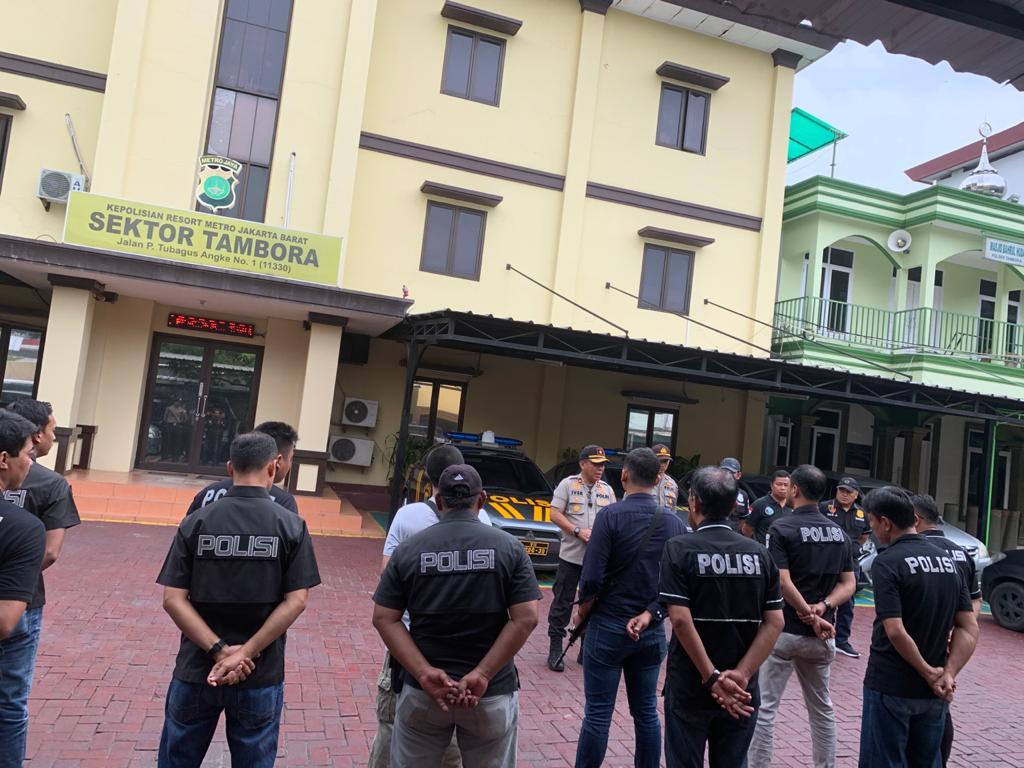 7 Pria 2 Wanita Diamankan Polsek Tambora Dalam Operasi Cipta Kondisi