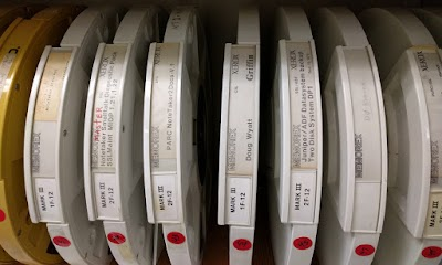 A few of the old Xerox Alto disks in Xerox PARC's collection.