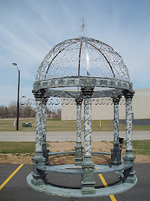 Exterior, Gazebo, Landscape Decor, marble gazebo, stainless steel dome
