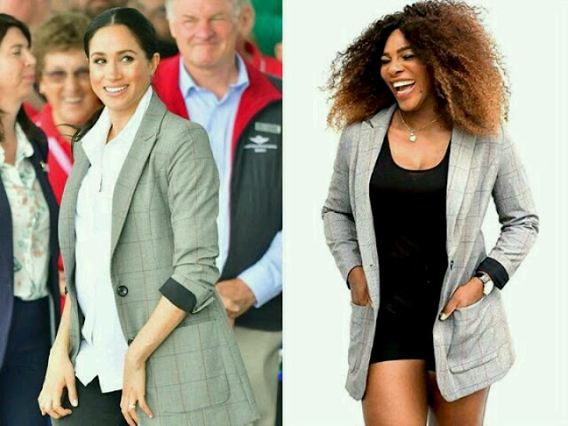 See the blazers Meghan Markle Rocks from Serena williams Clothing Line