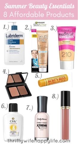 Thrifty Wife, Happy Life- Summer affordable beauty essentials
