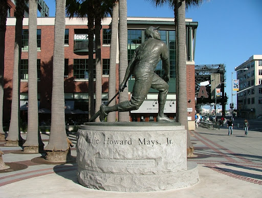 Willie Mays statue outside of AT&T Park in San Francisco