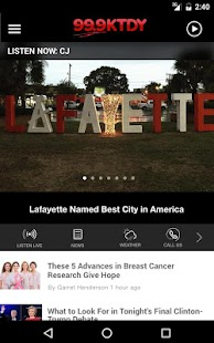 99.9 KTDY - Lafayette Adult Contemporary Radio- screenshot thumbnail