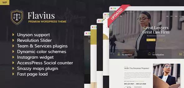 Flavius – Lawyer and Attorney WordPress Theme
