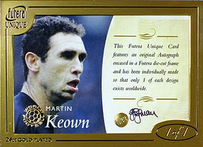 futera World Football Martin Keown 1of1 サインカード