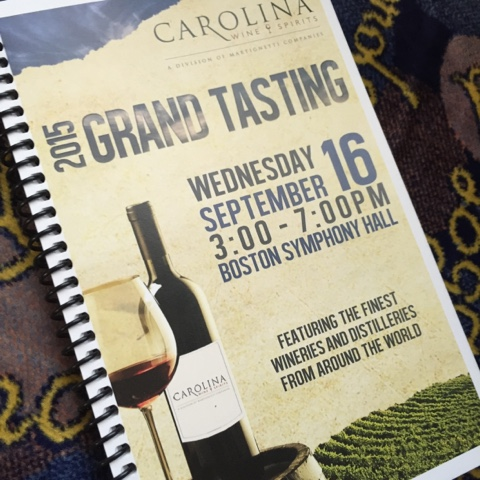 Carolina Wine & Spirits tasting book