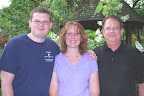 Garden owners Alex, Karyn and Bruce Marshall.