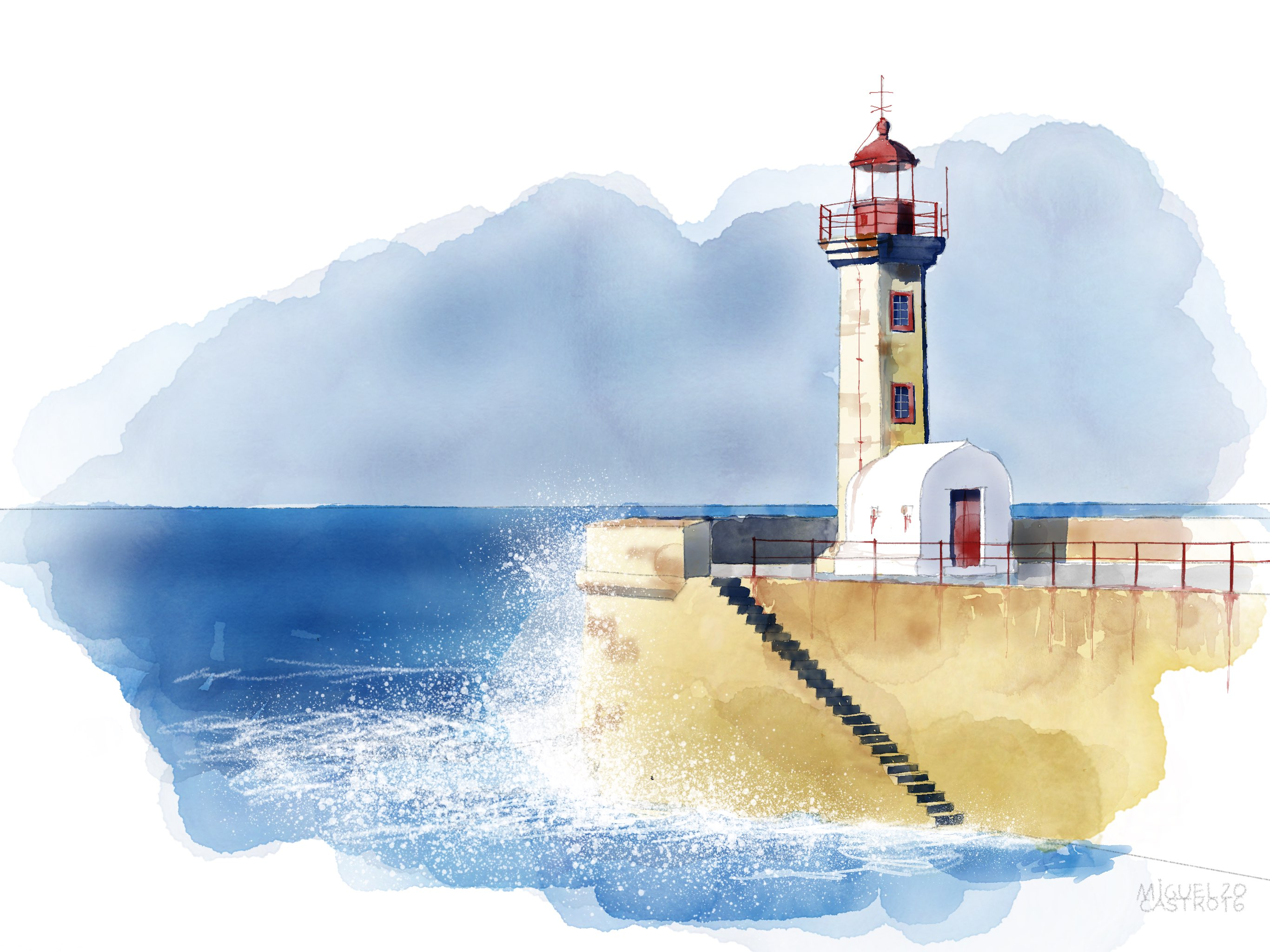 Oporto lighthouse  made with Sketches