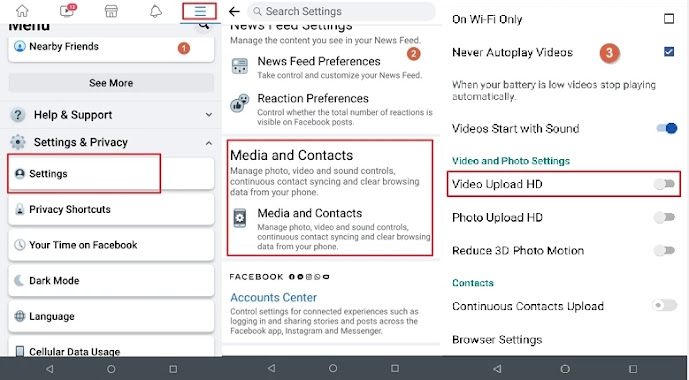Upload HD Video To Facebook On Android