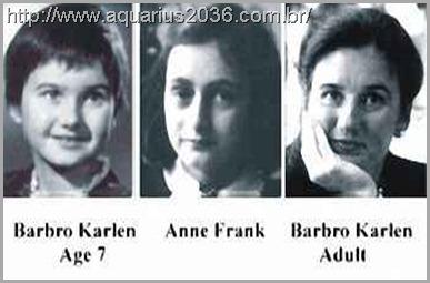 A reencarnação de Anne Frank como Barbro Karlen