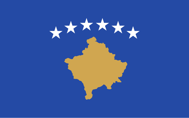 Flag of Kosovo Europe illustration vector svg eps png psd ai download free
