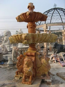 carved stone, Estate, Fountain, Ideas, Natural Stone, Tiered