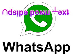 Send upside down Messages in whatsapp