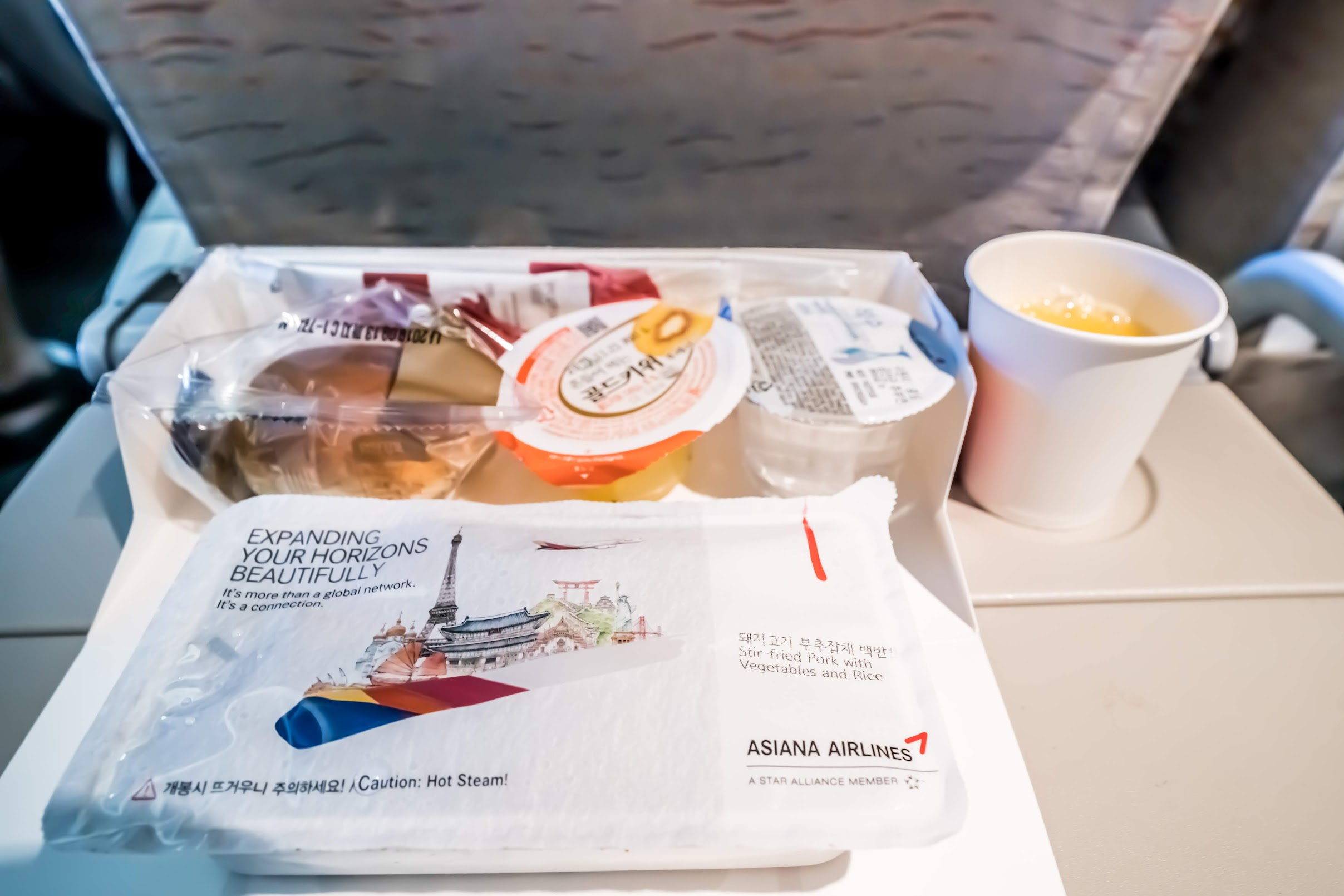 Asiana Airlines in-flight meal