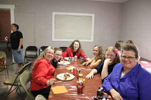 Ann and Susan with friends and family, Ashley, Danica, Marisa and Sheila.