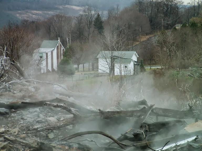 Após o incêndio de 1962, a cidade de Centralia nunca mais se recuperou.