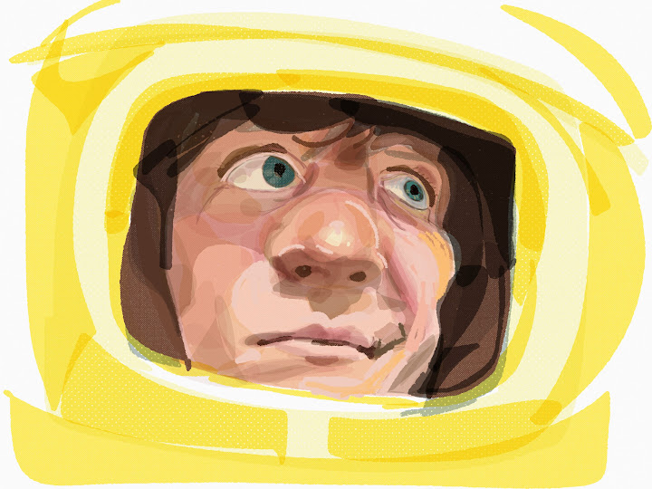 space helmet made with Sketches