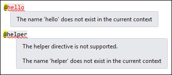 The helper directive is not supported