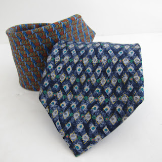 Hermès Silk Tie Dark Blue Duo
