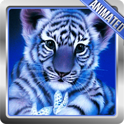 White Tiger Animated Wallpaper