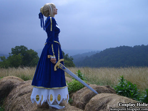 fate/stay night cosplay - saber 8 by amazon mandy