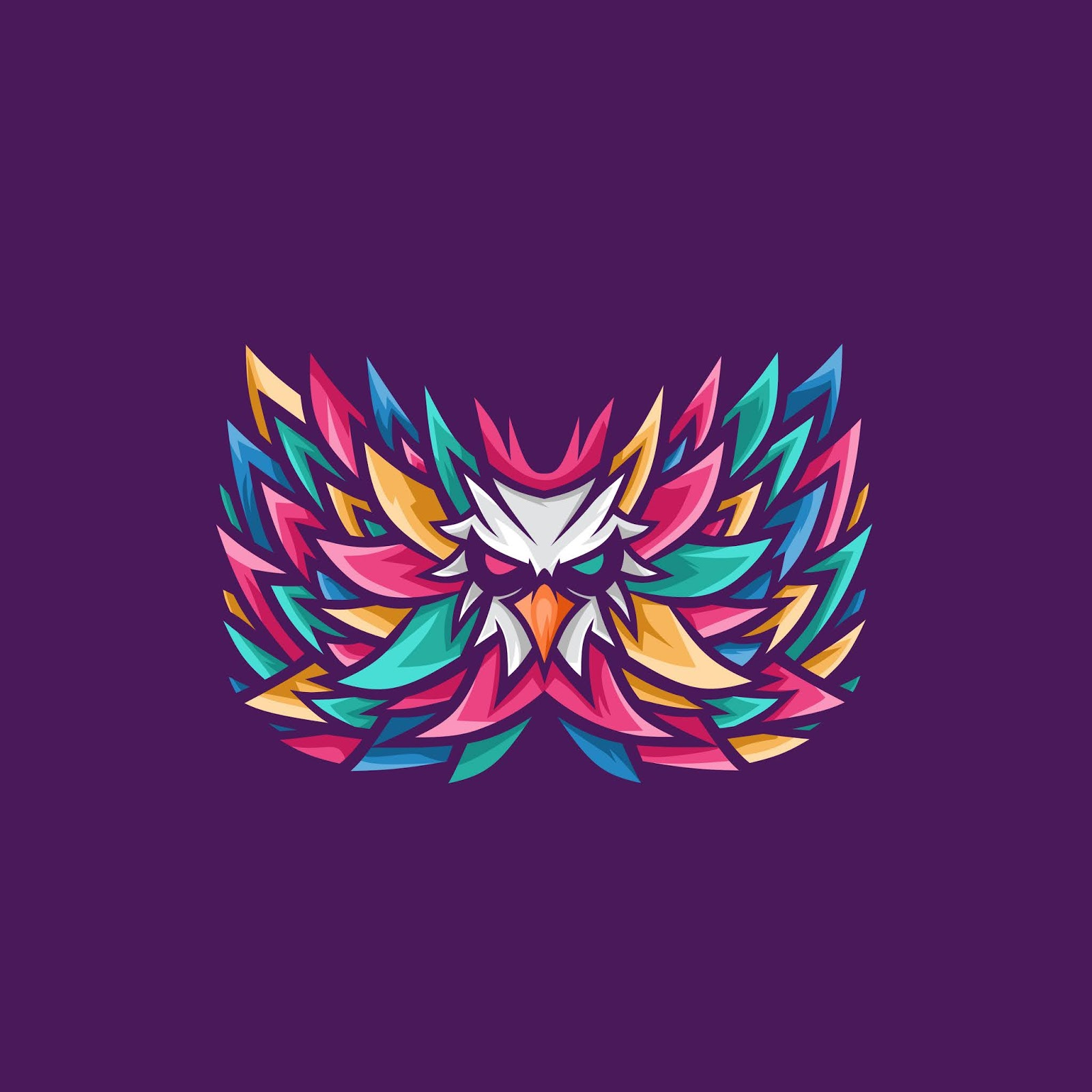 Colorful Bird Logo Free Download Vector CDR, AI, EPS and PNG Formats