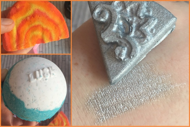 i made a bath bomb, bought an orange bubble bar wonder and its all about the silver eye jewel