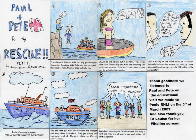Rescue cartoon strip by Louise, Chloe, Abi, Jack and Mike (2007)