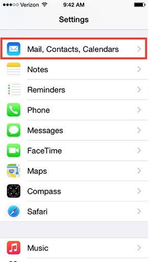Hình 2 - Hướng dẫn đồng bộ danh bạ trên IPhone lên Gmail