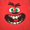 Monster Face Free Download Vector CDR, AI, EPS and PNG Formats