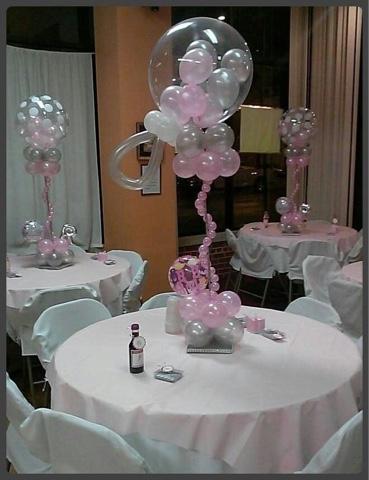 Ideas para tu fiesta centros de mesa para baby shower for Mesa baby shower