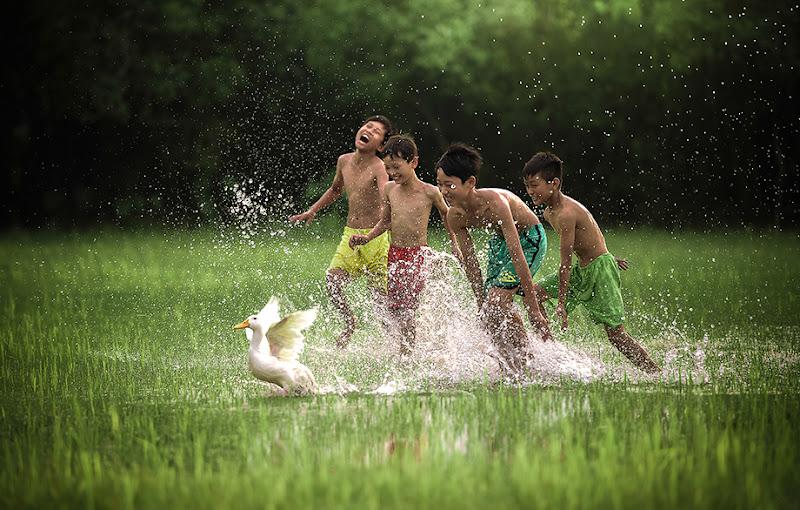 hồn nhiên, tuổi thơ, đồng quê, dân gian