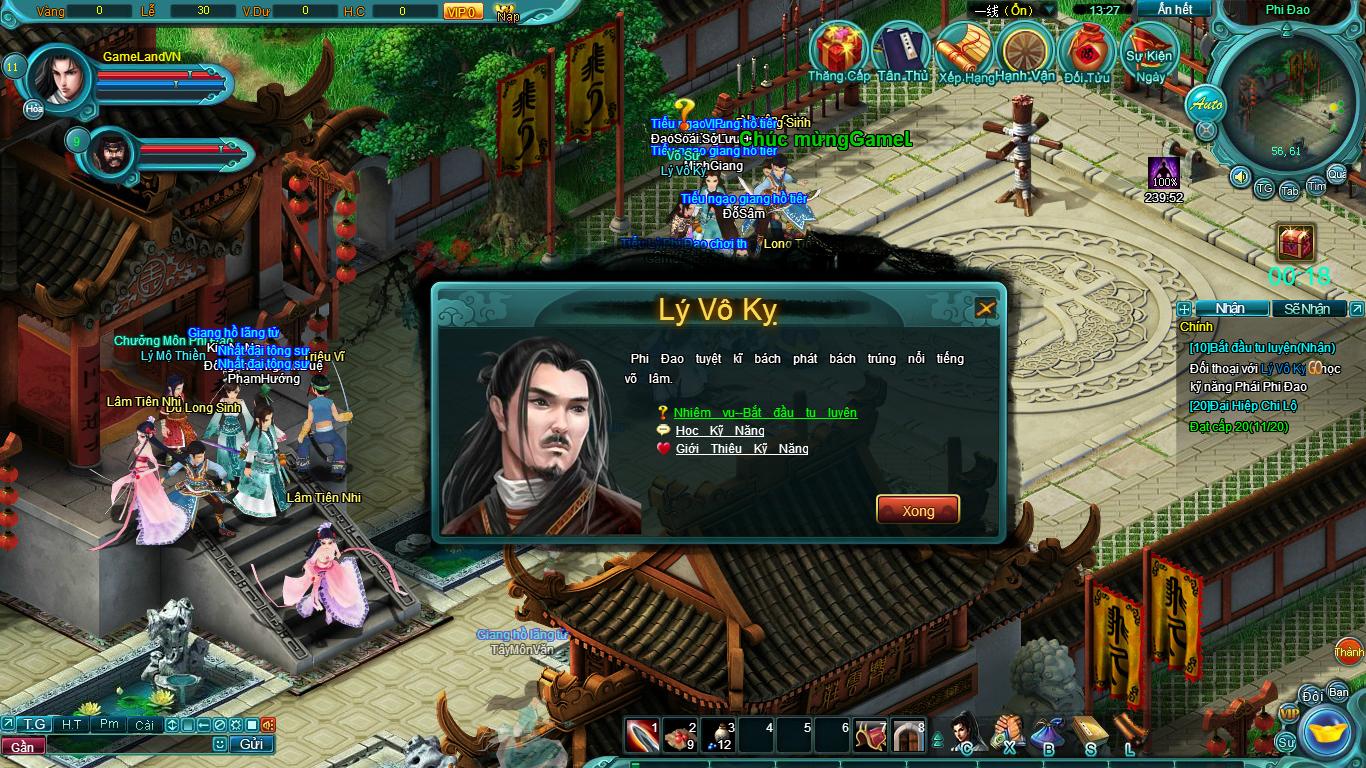 Hình ảnh thử nghiệm webgame Tiểu Lý Phi Đao - Ảnh 7
