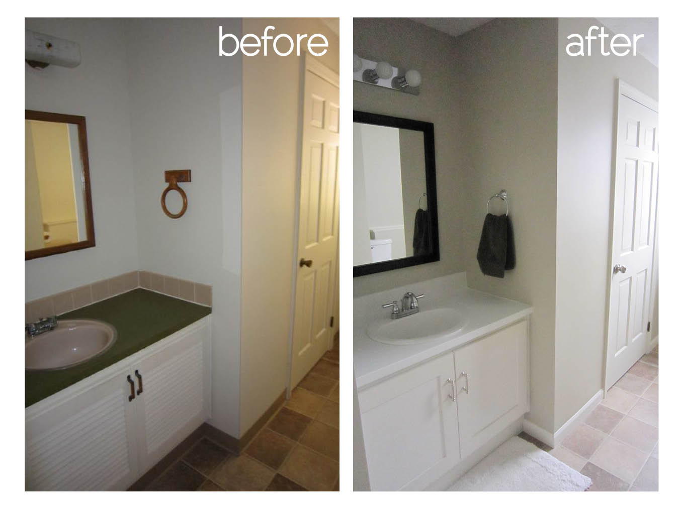 Diy Bathroom Remodel Before And After bathroom renovation before and after photos - bathrooms cabinets